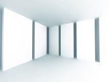 Fondo bianco astratto di architettura Stanza vuota Interi moderno Fotografia Stock Libera da Diritti