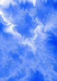 Fondo bianco blu delicato di zigzag con i fiocchi di neve bluastri Immagine Stock