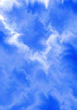 Fondo bianco blu eterogeneo di zigzag con i fiocchi di neve blu Immagini Stock Libere da Diritti