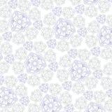 Fondo bianco con l'ornamento per fabrik royalty illustrazione gratis