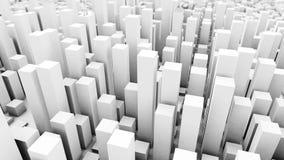 fondo bianco cubato della città illustrazione vettoriale
