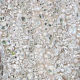 Fondo bianco dei cristalli di rocca Fotografie Stock Libere da Diritti