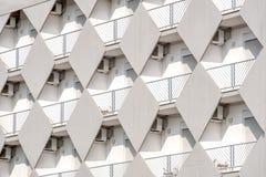 Fondo bianco del balcone di struttura della costruzione Fotografie Stock Libere da Diritti