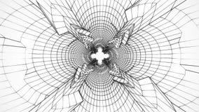 fondo bianco del grafico di moto di Loopable del tunnel di Digital di fantascienza 3D illustrazione di stock