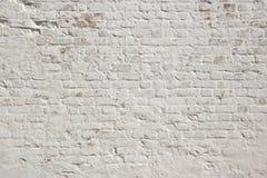 Fondo bianco del muro di mattoni di lerciume Fotografie Stock