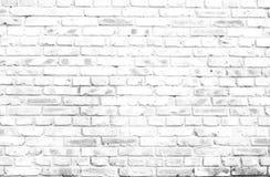 Fondo bianco del muro di mattoni nella stanza rurale Immagine Stock