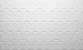 Fondo bianco del triangolo Fotografie Stock Libere da Diritti