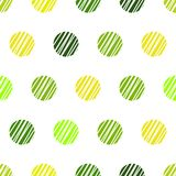 Fondo verde dell'annata con i punti di Polka di lerciume Immagine Stock Libera da Diritti