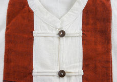 Fondo bianco della camicia del calicò Immagine Stock