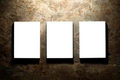 Fondo in bianco della tela Fotografia Stock