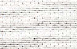 Fondo bianco di alta risoluzione del muro di mattoni di lerciume Fotografia Stock Libera da Diritti