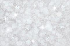 Fondo bianco di Bokeh di inverno Fotografia Stock