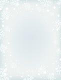 Fondo in bianco di inverno con neve ed i fiocchi di neve Fotografie Stock Libere da Diritti