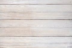 Fondo bianco di legno d'annata bianco di struttura del tek Immagine Stock