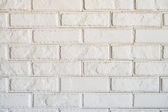 Fondo bianco di struttura del muro di mattoni Struttura della parete del cemento per interior design Immagine Stock