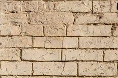 Fondo bianco di struttura della parete per la superficie ruvida del vecchio muro di mattoni bianco immagini stock libere da diritti