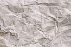 Fondo bianco di struttura Documento sgualcito immagini stock libere da diritti