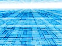 Fondo bianco e blu astratto - immagine digitalmente generata Fotografie Stock