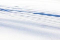 Fondo bianco e blu della neve Immagini Stock