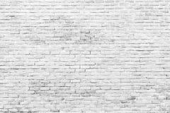 Fondo bianco e grigio di struttura del muro di mattoni con spazio per testo Carta da parati bianca dei mattoni Decorazione intern fotografia stock libera da diritti