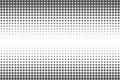 Fondo in bianco e nero astratto dei punti Schiocco comico Art Style Effetto della luce Fondo di pendenza con i punti Immagine Stock