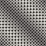 Fondo in bianco e nero astratto del modello Semitono geometrico senza cuciture del cerchio Moderni alla moda texturen Immagine Stock