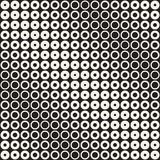 Fondo in bianco e nero astratto del modello Semitono geometrico senza cuciture del cerchio Moderni alla moda texturen Fotografie Stock