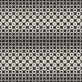 Fondo in bianco e nero astratto del modello Semitono geometrico senza cuciture del cerchio Moderni alla moda texturen Immagine Stock Libera da Diritti