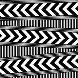 Fondo in bianco e nero astratto di arte op illustrazione vettoriale