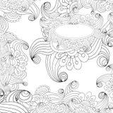 Fondo in bianco e nero astratto di vettore. Illustrazione Vettoriale