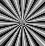 Fondo in bianco e nero dei raggi Fotografia Stock