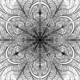 Fondo in bianco e nero del fiore di frattale royalty illustrazione gratis