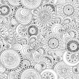 Fondo in bianco e nero del fiore senza cuciture retro Royalty Illustrazione gratis
