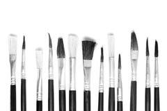 Fondo bianco e nero della spazzola Fotografia Stock Libera da Diritti