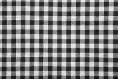 Fondo in bianco e nero della tovaglia Fotografia Stock
