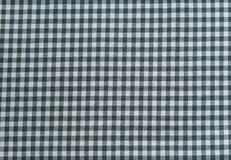 Fondo in bianco e nero della tovaglia, tessuto del plaid Fotografia Stock Libera da Diritti