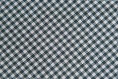 Fondo in bianco e nero della tovaglia, tessuto del plaid Immagini Stock