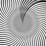 Fondo in bianco e nero di arte op dell'estratto illustrazione vettoriale