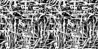 Fondo in bianco e nero di lerciume astratto senza cuciture di vettore Immagine Stock Libera da Diritti