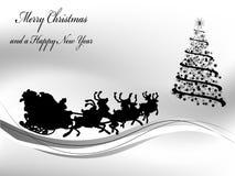 Fondo in bianco e nero di Natale Fotografia Stock