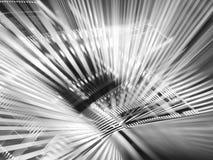Fondo in bianco e nero di tecnologia - dell'estratto gener digitalmente Fotografia Stock