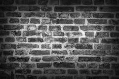 Fondo in bianco e nero di vecchio muro di mattoni d'annata Fotografia Stock Libera da Diritti
