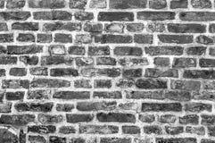 Fondo in bianco e nero di vecchio muro di mattoni d'annata Fotografia Stock