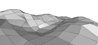 Fondo in bianco e nero geometrico astratto di forma Fotografie Stock