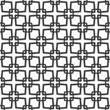 Fondo bianco e nero geometrico floreale senza cuciture decorativo del modello Fotografie Stock Libere da Diritti