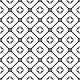 Fondo bianco e nero geometrico floreale senza cuciture decorativo del modello Immagini Stock Libere da Diritti