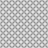 Fondo bianco e nero geometrico floreale senza cuciture decorativo del modello Fotografia Stock Libera da Diritti