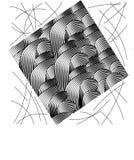 Fondo in bianco e nero geometrico moderno royalty illustrazione gratis