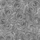Fondo in bianco e nero senza cuciture del cerchio di vettore illustrazione vettoriale