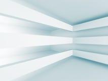 Fondo bianco geometrico di progettazione moderna di architettura Immagini Stock Libere da Diritti